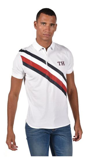 Polo - Tommy Hilfiger - Mw0mw10791-100 - Blanco Hombre
