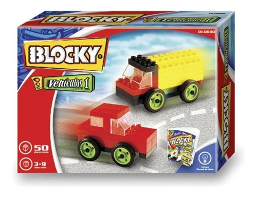 Blocky Vehículos 1  50 Pzs 01-0600 Envio Full