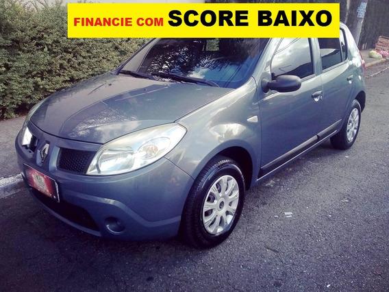 Renault Sandero 1.6 Financie Com Score Baixo Entrada De 2000