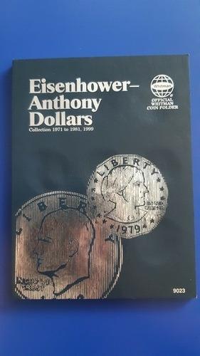 Imagen 1 de 4 de Album De Monedas Eisenhower Anthony Dollars