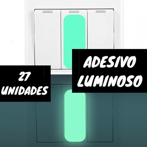 Kit Adesivo Luminoso Para Interruptor Noturno Sinalização