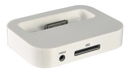 Dock Station Para iPhone 4gs 4g / 3gs - Cor Branca