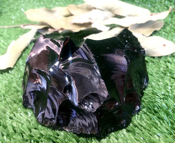 Pedra Semi Preciosa Obsidiana Negra Cristal - Pedra Bruta