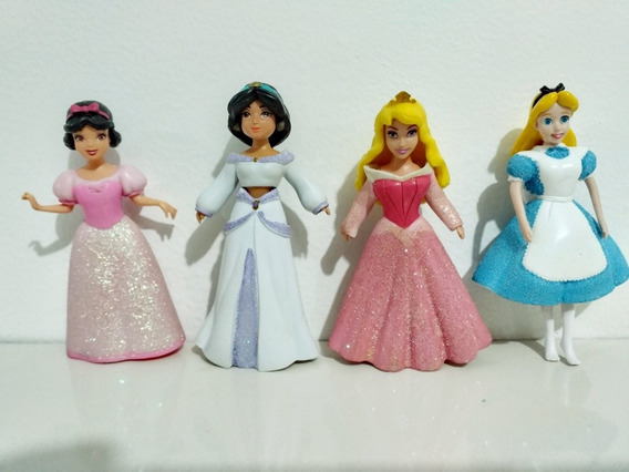Princesas Polly Kit 7 Bonecas Roupas E Acessórios Disney ! !