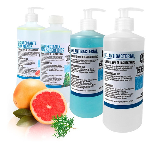 Gel Antibacterial Para Manos Desinfectante 500 Mililitros