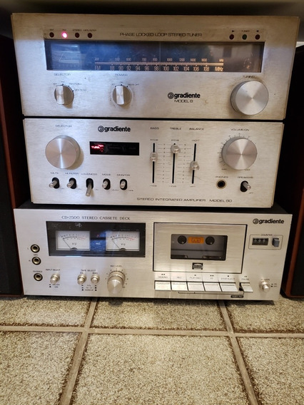 Conjunto Gradiente Tape Deck, Tuner E Amplificador