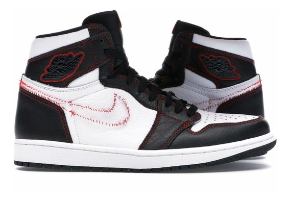 Jordan 1 Retro High Defiant White Black Gym Red Original