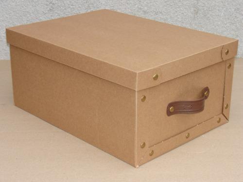 Cajas Baulera De Carton Plegables 48x36x22cm Con Manija