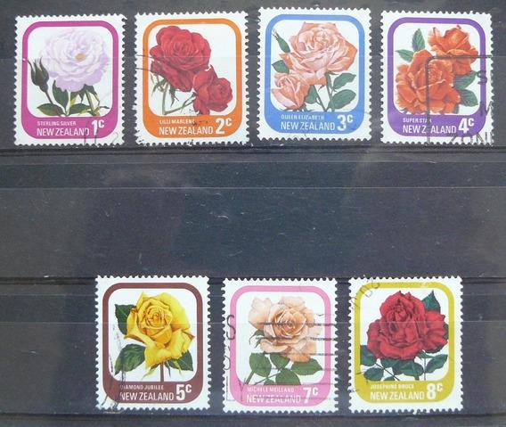 Estampillas De Flores De Nueva Zelanda