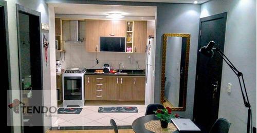 Imagem 1 de 18 de Imob03 - Apartamento Com 2 Dormitórios À Venda, 51 M² Por R$ 165.000 - Jardim Estrela - Mauá/sp - Ap3043