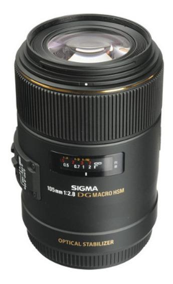 Lente Sigma 105mm F2.8 Ex Dg Os Hsm Macro Para Canon