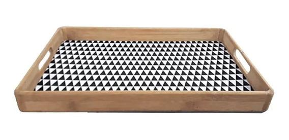 Bandeja De Servir Desayunador Bamboo Diseños 46 X 30 Cm
