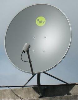 Antena Parabolica Satelital Usada 76 Cm + Soporte Lnb