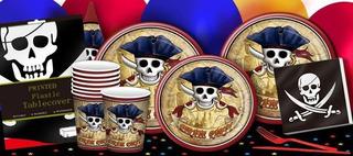 Set Fiesta Pirata Plato Vaso Servilleta Niño Cumpleaños