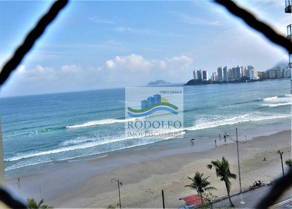 Guarujá Pitangueiras Frente Ao Mar, 3 Dormitórios (suite), Sacada, Vista Mar, Serviço De Praia, Churrasqueira. 1 Vaga. - Ap0685
