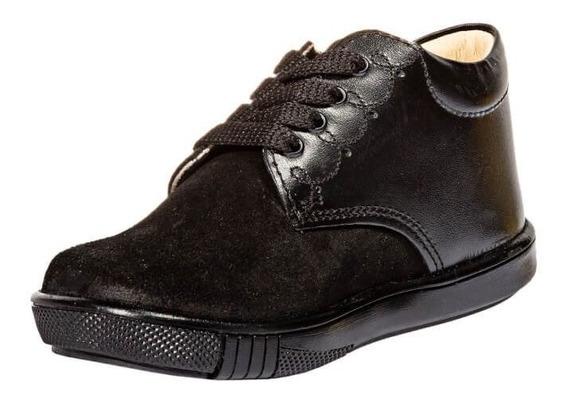 Zapatos Casuales Kinder Niño Negro Piel 333