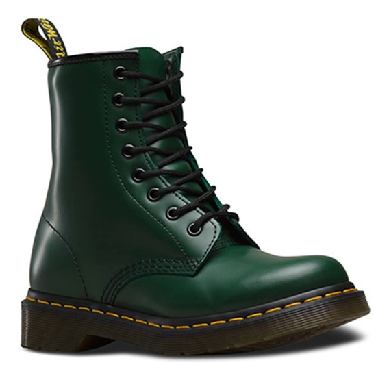 Bota Dama 1460w Smooth Green Verde Oscuro Dr. Martens