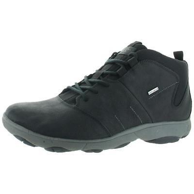 Cuero Nebulosa Zapatos Para Hombre Negro Geox Medio Botines IYf6gvb7y