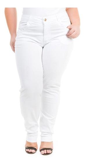 Calça Feminina Jeans Cigarrete Tamanhos Grandes Plus Crj341