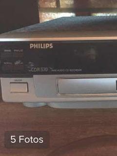 Gravador De Cd Cd-r 570 Philips Com Gaveta Estragada