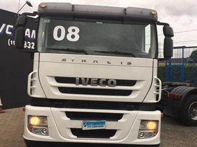 Iveco Stralis 420 6x2 Trucado 2008 = 380 410 Nr Hi Way Mb Vw