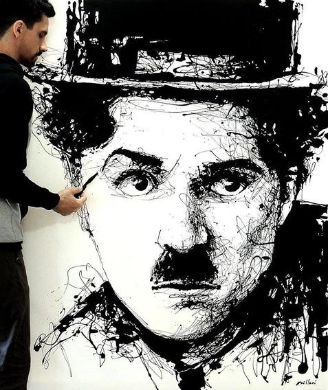 Pintura Acrílica - Charlie Chaplin