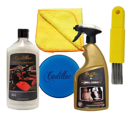 Kit Limpeza E Hidratação De Couro Banco De Couro Cadillac