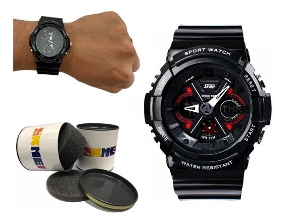 Relógio Masculino Original Esportivo Prova D´água + Nf 133