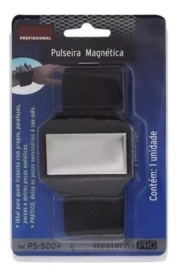 Pulseira Magnética Para Parafusos Pregos Agulhas Imã Gruda