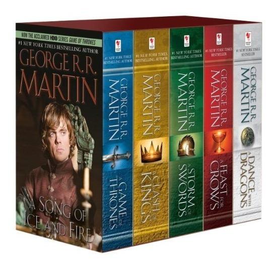 Game Of Thrones 5 Book Box Set 5 Libros Pasta Blanda *sk