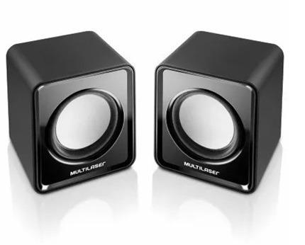 Caixa De Som 2.0 Mini 3w Rms Sp151 Preta