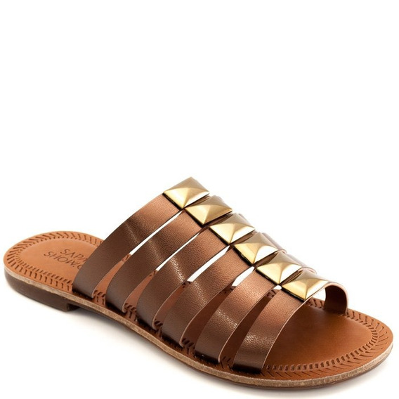 Rasteira Tiras Metalizadas Sapato Show 412