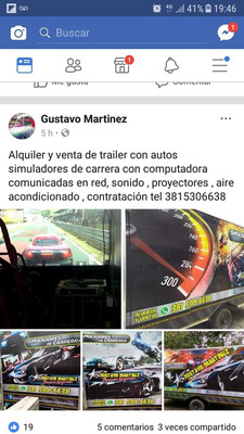 Vendo Trailer Con Dos Autos Simuladores De Carrera
