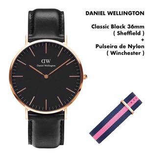 Daniel Wellington | Classic Bk 36mm ( Sheffield ) + Pulseira