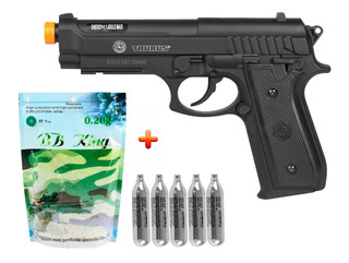 Pistola Airsoft Co2 Taurus Pt92 Black +bb King 0.20g + Co2