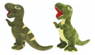 Peluche De Dinosaurio Verde 40 Cm