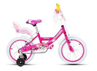 Bicicleta Nena Niña Cross Princesa Rodado 16 Con Rueditas