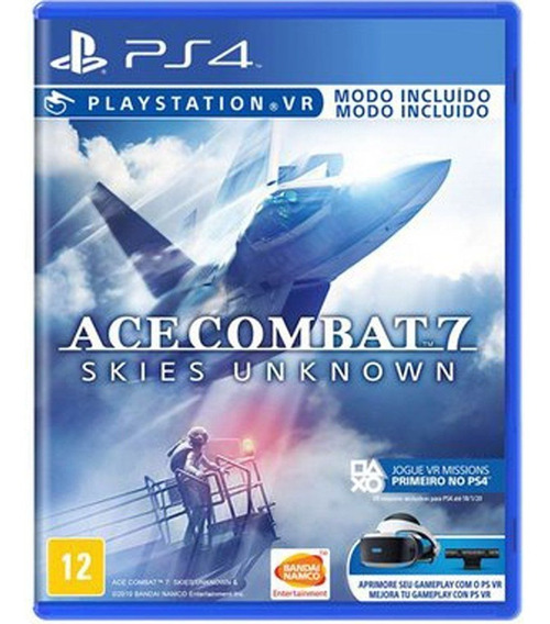 Ace Combat 7 Skies Unknown Ps4 Jogo Mídia Física Português