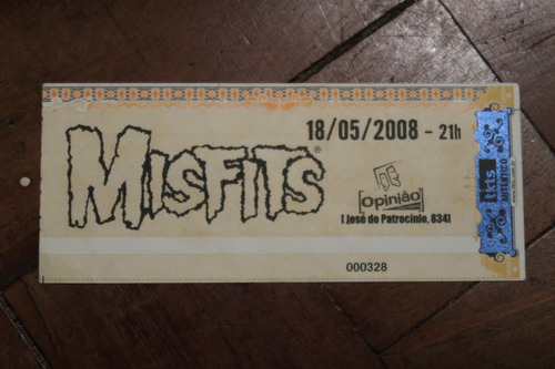 Ingresso Misfits Bar Opinião Porto Alegre 2008