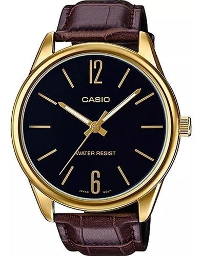 Relógio Casio Masculino Analógico Couro Mtp-v005gl-1budf