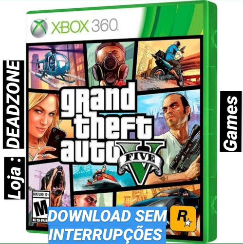 Gta 5 Xbox 360 Mídia Digital, Envio Imediato