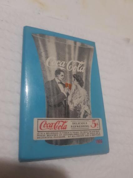 Antiguo Pequeño Espejo De Bolsillo Coca Cola
