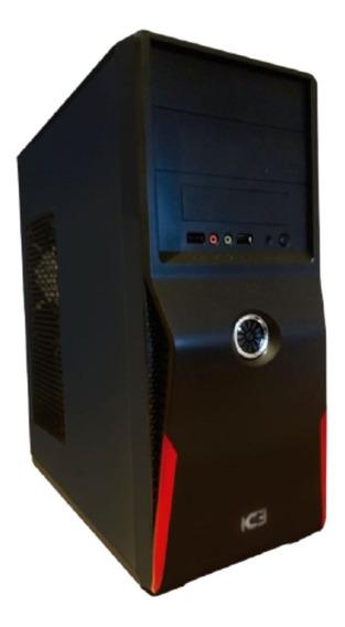 Gabinete Kit Ic3 Atx Fuente 500w Mouse Teclado Parlante