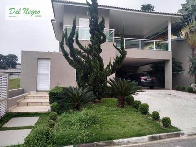 Casa Com 4 Dormitórios À Venda, 375 M² - Beverly Hills, Granja Viana. - Ca1737