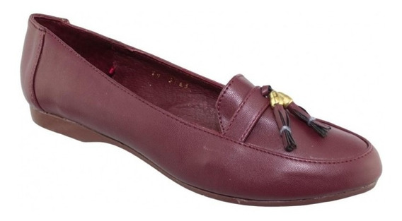Zapato Para Dama Marca Shosh Simipiel Merlot 7368