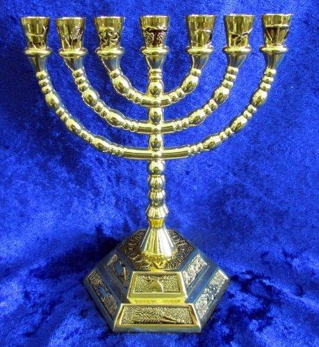 Candelabro Menorah 12 Tribus De Israel Del Templo Jerusalen