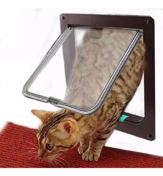 Portas Para Gatos Cachorros 4 Em 1 Pet Door 19x17cm Passagem