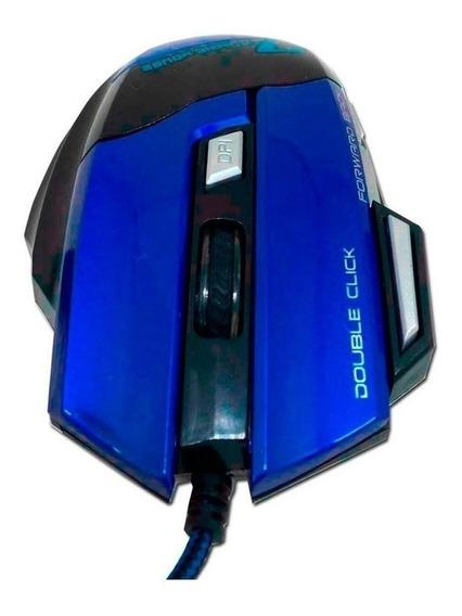 Mouse para jogo Feir FR-404 azul e preto