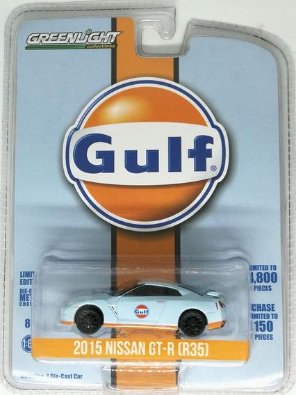 Nissan Gt-r 2015 R35 Gulf - Greenlight 1/64