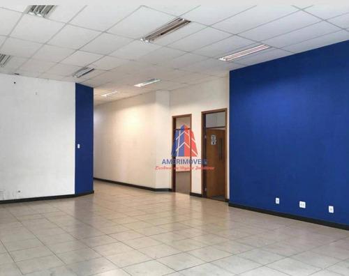Salão Para Alugar, 330 M² Por R$ 25.000/mês - Jardim São Paulo - Americana/sp - Sl0182